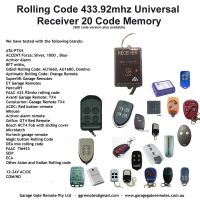 Universal 433.92Mhz AM Rolling Code Receiver