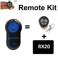 M. Keyring remote add on kit suits MERLIN M802  M-802 remote used on 230T, P-230T &  430R openers