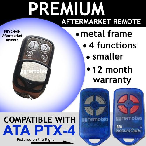 A. Garage Door Remote Control Compatible with ATA  PTX-4