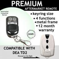 DEA MIO TYPE TD2 Compatible Remote Control