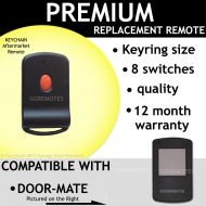 Door-Mate White Button 8 Switch Compatible Remote Control Opener