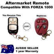 Aftermarket Remote Compatible with Accent Garge Doors RED FORZA 1000