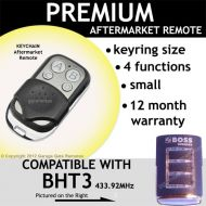 B. Garage Door Remote Control Compatible with HT3 433.92MHz Clear Frame Red Light