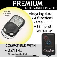 Garage Door Remote Control Compatible Compatible With Guardian 2211-L (TX)