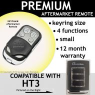 G. Keyring Garage Door Remote Control Compatible with Guardian 21230L Clear Frame Blue light
